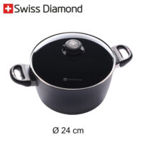 casseruola alta Swiss Diamond 24 cm