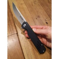 coltello chiedibile con manico in G-10 nero