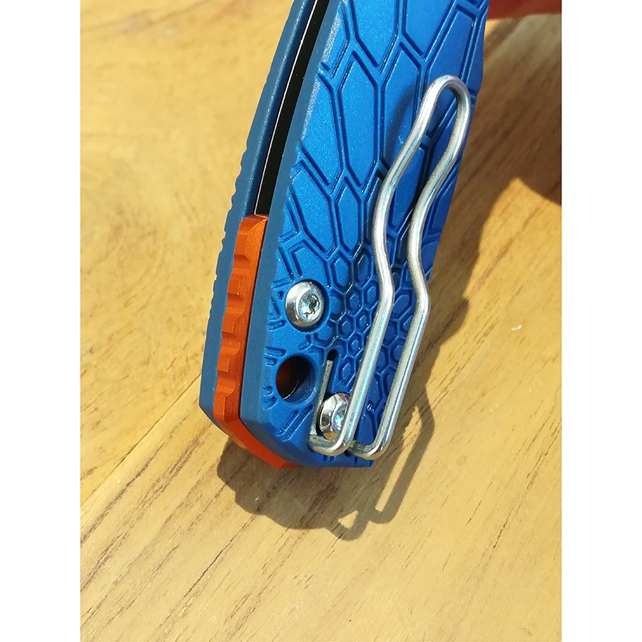Coltello tascabile con manico in FRN® blu e clip reversibile