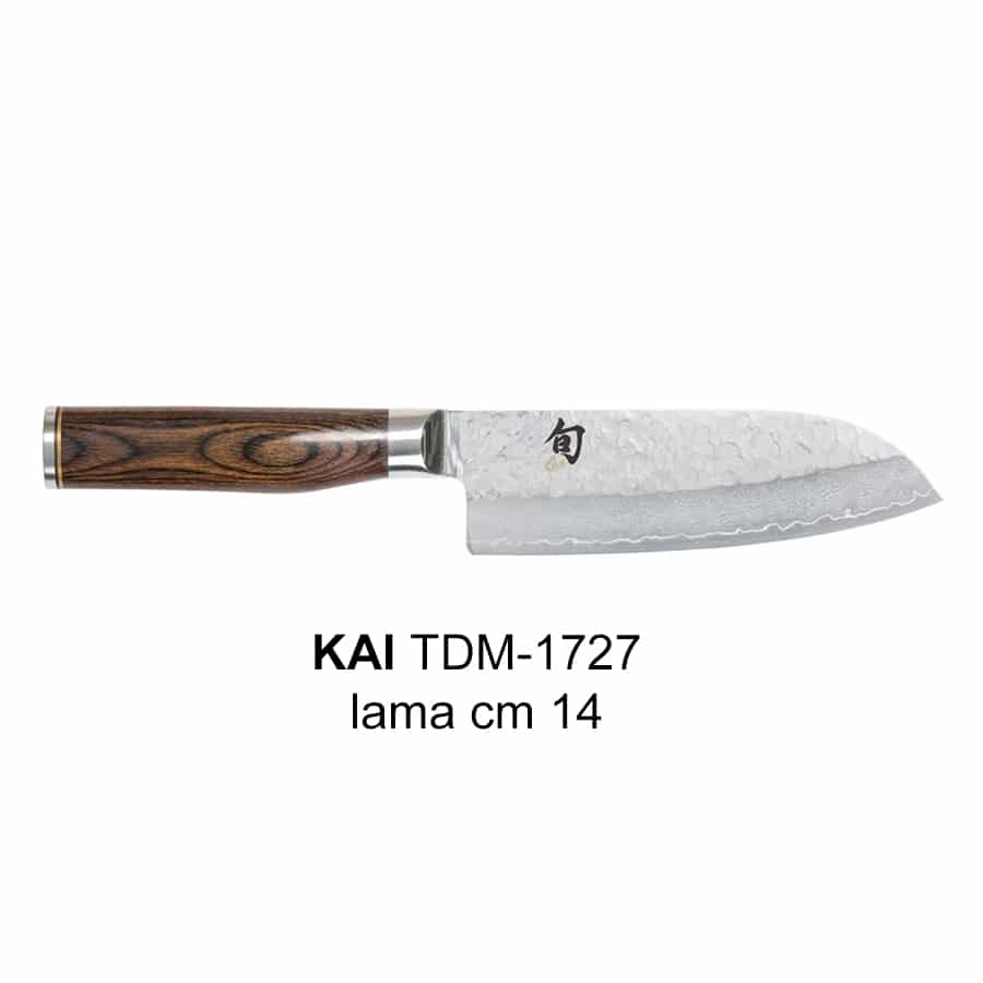 coltello santoku piccolo con lama in damasco da cm 14